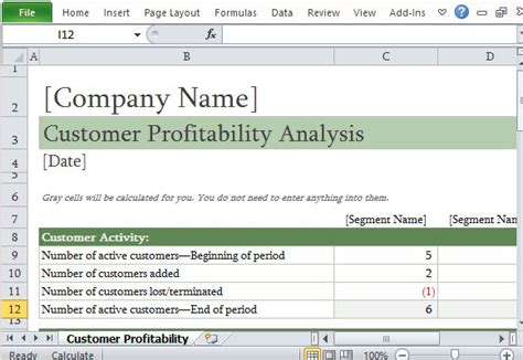 Job Profitability Report Template