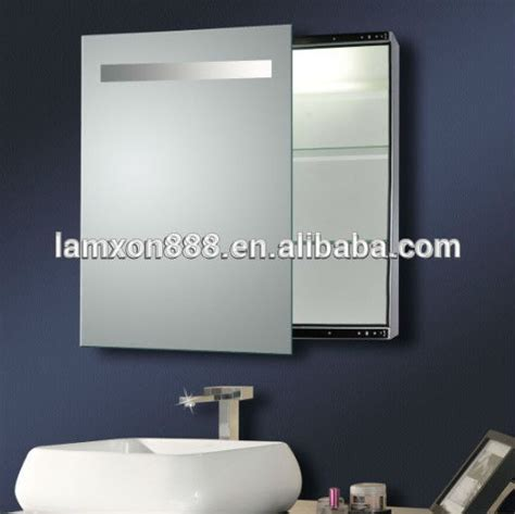 electric bathroom cabinet electric bathroom mirror cabinet with light sliding mirror