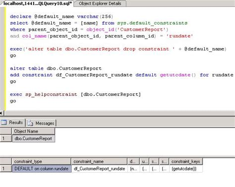 Alter Table Drop Constraint by Working With Default Constraints In Sql Server