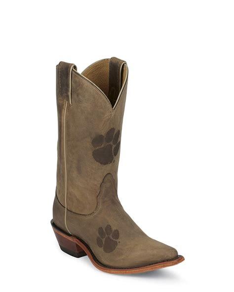 clemson cowboy boots for my doggies nocona s clemson brown cowhide