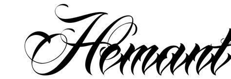 tattoo fonts no download quot hemant quot font free scetch