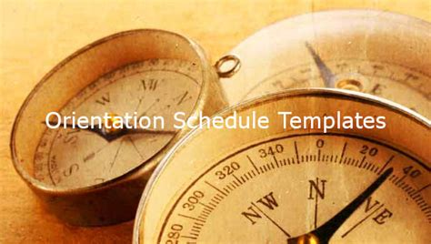 orientation schedule templates samples docs