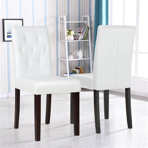 white leather dining room set set of 2 ivory white leather dining room chair kitchen