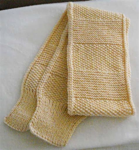 knitting k1tbl beadbag knitting neat rolled edge scarf
