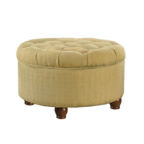 Homepop Storage Ottoman Homepop And Tweed Tufted Storage Ottoman N8264 F1077 The Home Depot