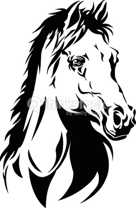 silhouette of a horses head vector art thinkstock