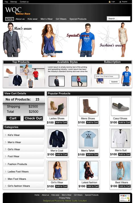 Free Download Ecommerce Web Tmplate Skydeksolutions Yahoo Ecommerce Website Templates