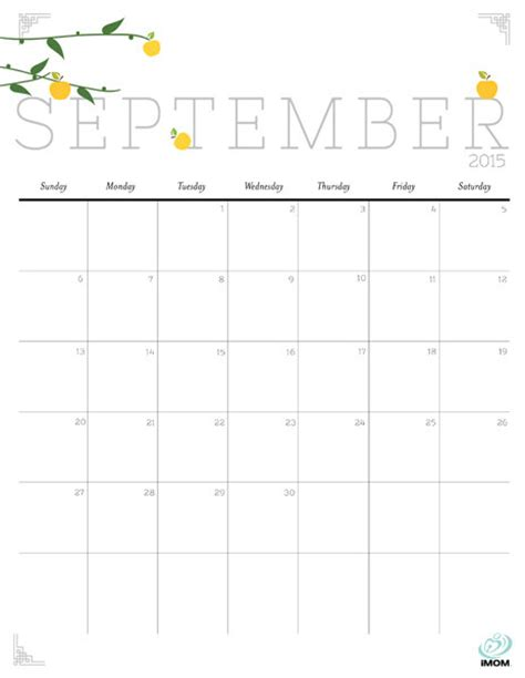 printable calendar 2015 september september 2015 calendar www imgkid com the image kid