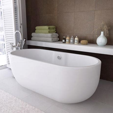 curved bathtub modern double ended curved freestanding bath 1680 x 750mm