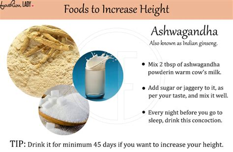 ashwagandha before bed how to increase height after 18