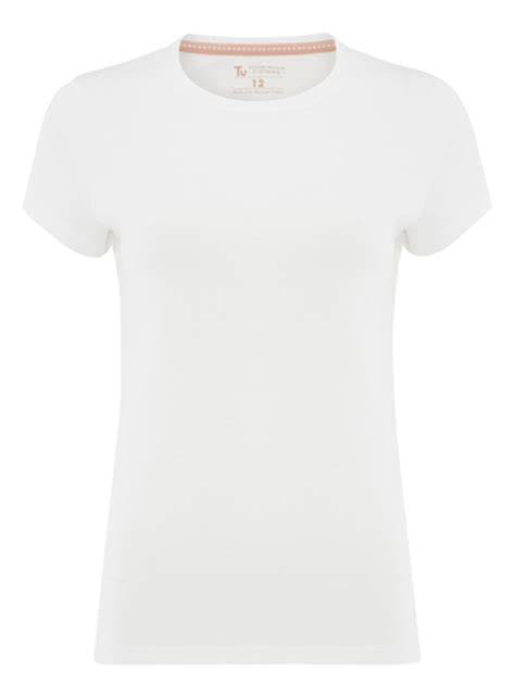 White Top Plain by White Plain Crew Neck T Shirt Tu Clothing