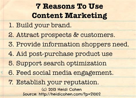 7 Reasons To Use by Why Use Content Marketing 7 Reasons Heidi Cohen