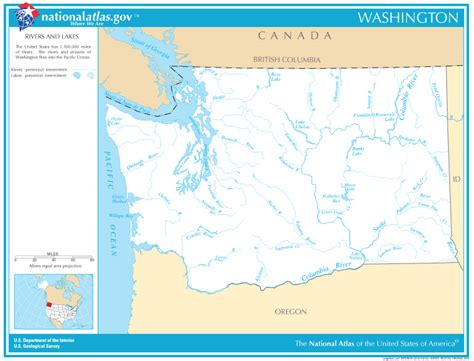 washington rivers map washington state map rivers