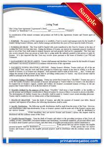 free living trust template free printable living trust form generic