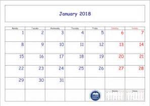 Calendar 2018 January Pdf January Calendar 2018 Printable Template Pdf Jpg