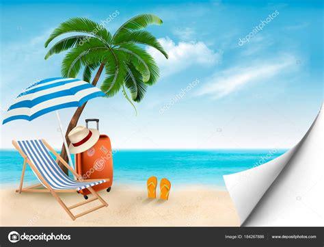 mare clipart vettore di vacanza al mare articoli di viaggio sulla