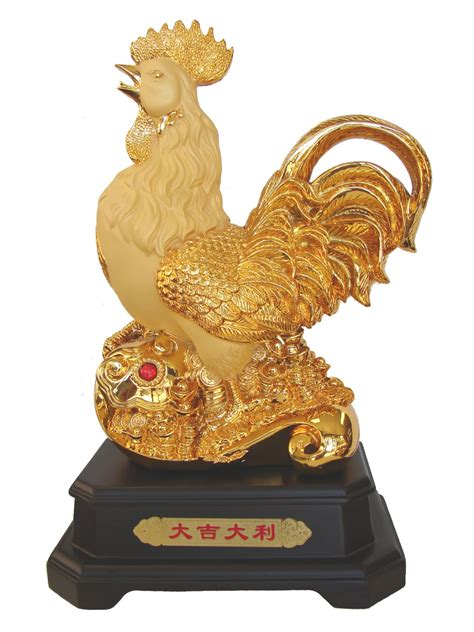 new year statue 17 inch big golden rooster statue for year of rooster
