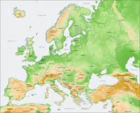 Physical Map Of Western Europe by Test Amp Physical Map Crull S Chronicles