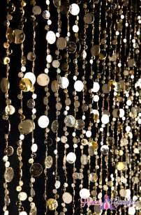 Beaded Drapes Gold Beaded Curtain Bubbles Door Beads Metallic Gold