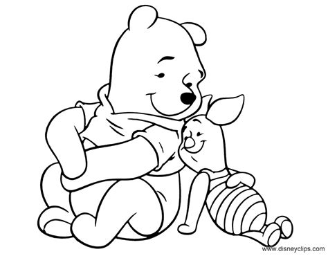 winnie  pooh friends coloring pages disney coloring