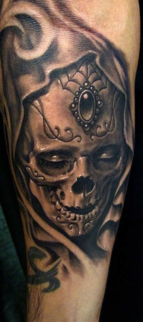 day of the dead skull tattoos for men 60 day of the dead tattoos you will want to get asap