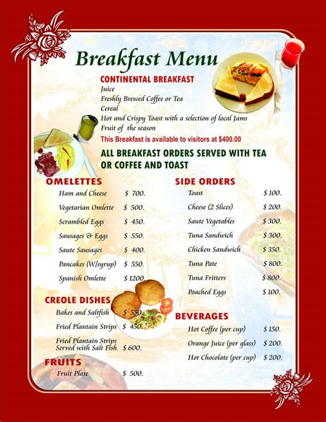 breakfast menu templates mister c quot excuse my quot march 2013