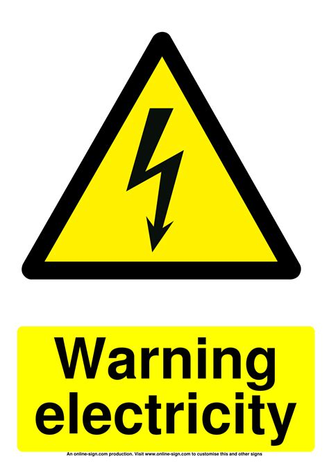 electrical warning signs poster template