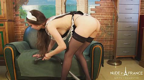 Pretty Young Skinny French Maid Gets Caught Masturbating