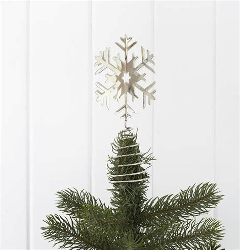 snowflake tree toppers by retreat home