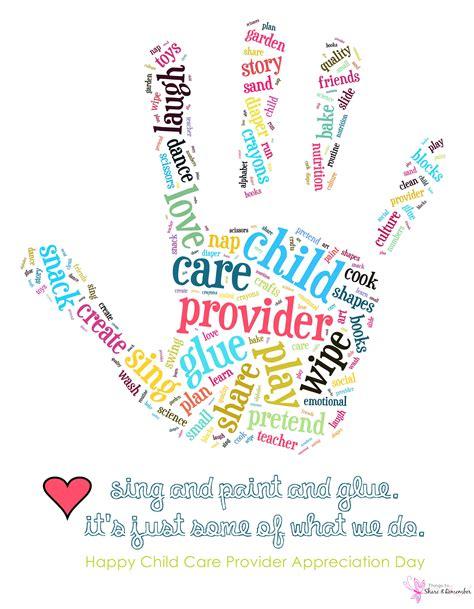 appreciation letter to daycare provider child care provider appreciation day printable