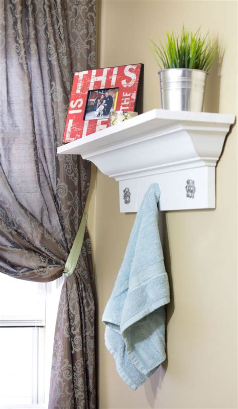 decorative bathroom shelf a bathroom makeover on a budget the diy village