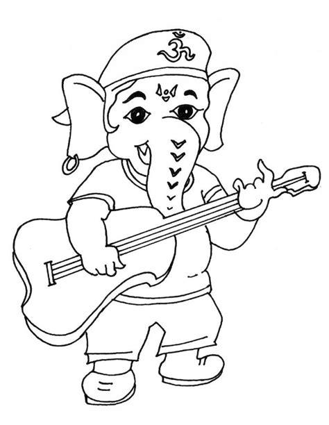 cute ganesha coloring pages bal ganesha sketch simple bal ganesha sketch simple ganesh