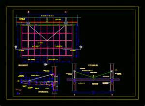 awning construction details steel canopy detail with tempered glass in autocad