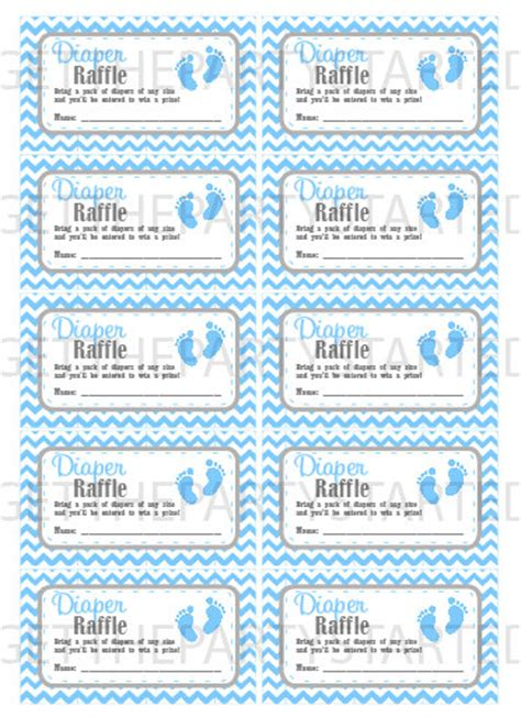 Free Printable Baby Shower Raffle Tickets by Raffle Tickets Printable Baby Shower Raffle
