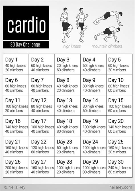 cardio challenge november fitness workout exercise