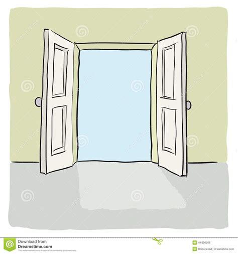 open door stock vector image 44490206