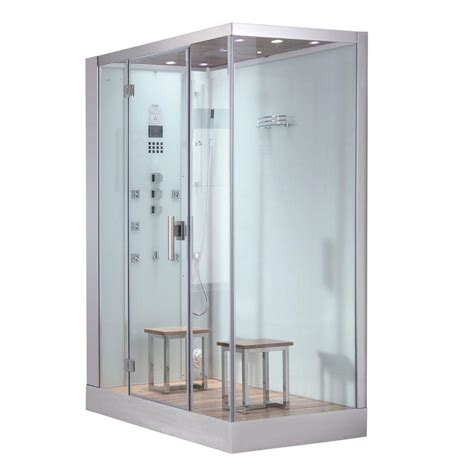 ariel 59 in x 35 4 in x 89 2 in steam shower enclosure