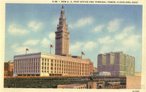 Post Office Cleveland Ohio by New U S Post Office And Terminal Tower Cleveland Oh