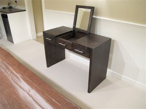 Handmade Vanity Table - modern diy vanity table with mirror and 3 drawers