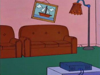 simpsons living room homer loves flanders on tumblr