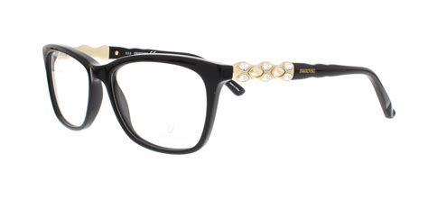 swarovski eyeglasses sk5133 fancy 001 shiny black 54mm ebay