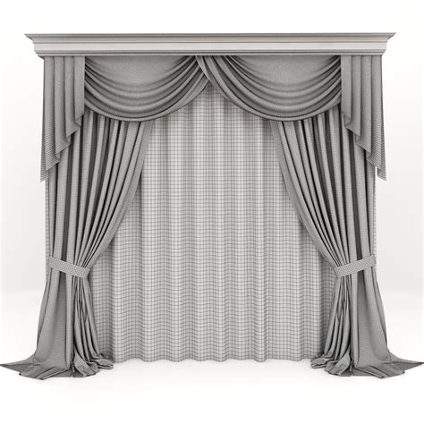 classic curtains curtains classic 3d model max fbx cgtrader com