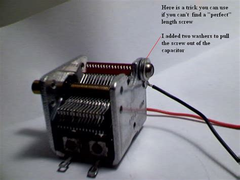 how to connect variable capacitor in circuit variable capicitor hook up