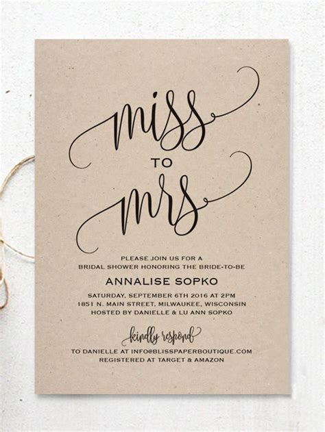 Best 25 Bridal Shower Invitations Ideas On Pinterest Kitchen Tea Invitations Bridal Shower Wedding Shower Invitation Template