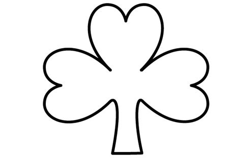 shamrock cut out template doodleberry patch