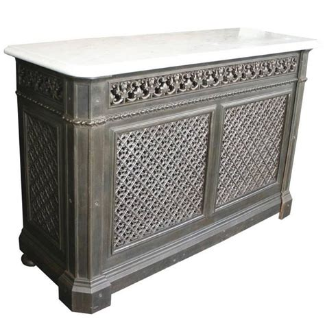 Original Cover Radiator Silver original late 19th century cast iron radiator cover with marble top at 1stdibs