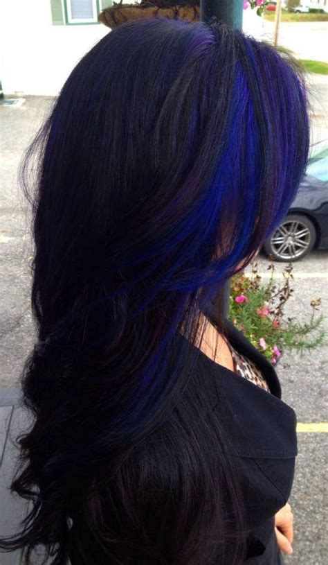 Pictures Of Sapphire Black Hair With Red Highlights | hair color trends 2017 2018 highlights blue