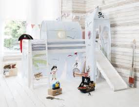 cabin bed mid sleeper pine bed with slide pirate pete