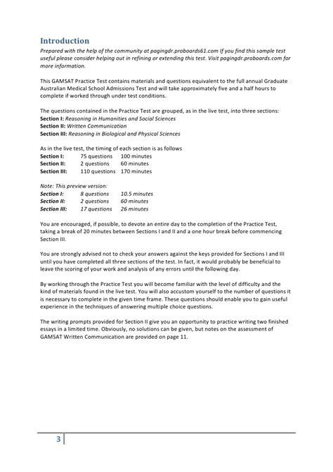 practice section gamsat practice test v0 15