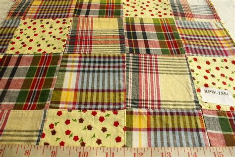 Patchwork Madras - patchwork madras fabric made in india cotton patchwork